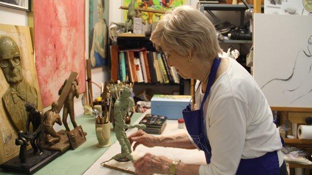 Centerville artist Virginia Krause in a segment of The Art Show